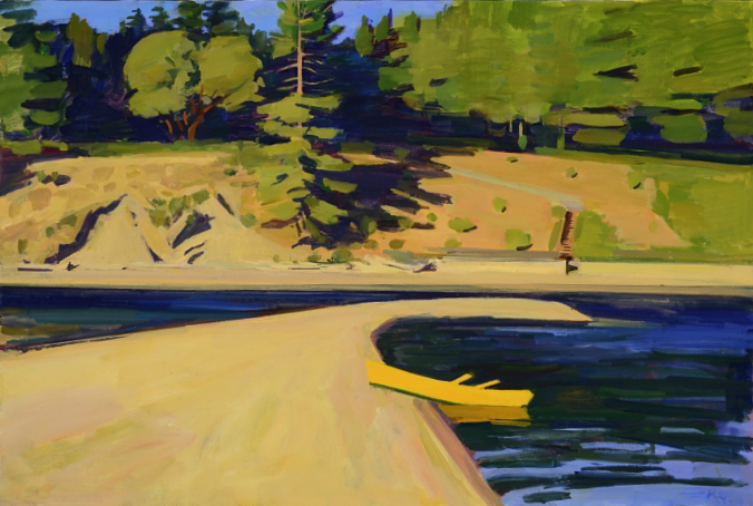 Yellow Boat on the Sandspit