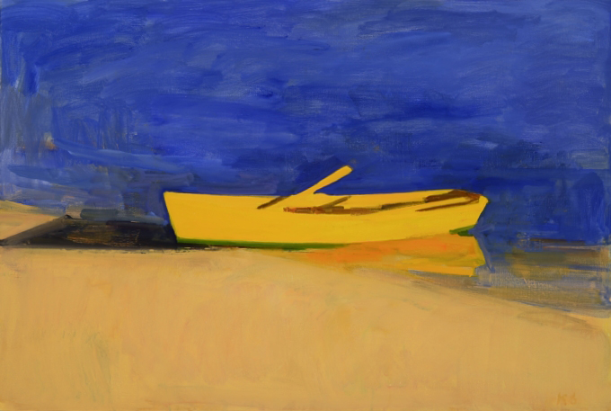 Yellow Boat Summer Evening