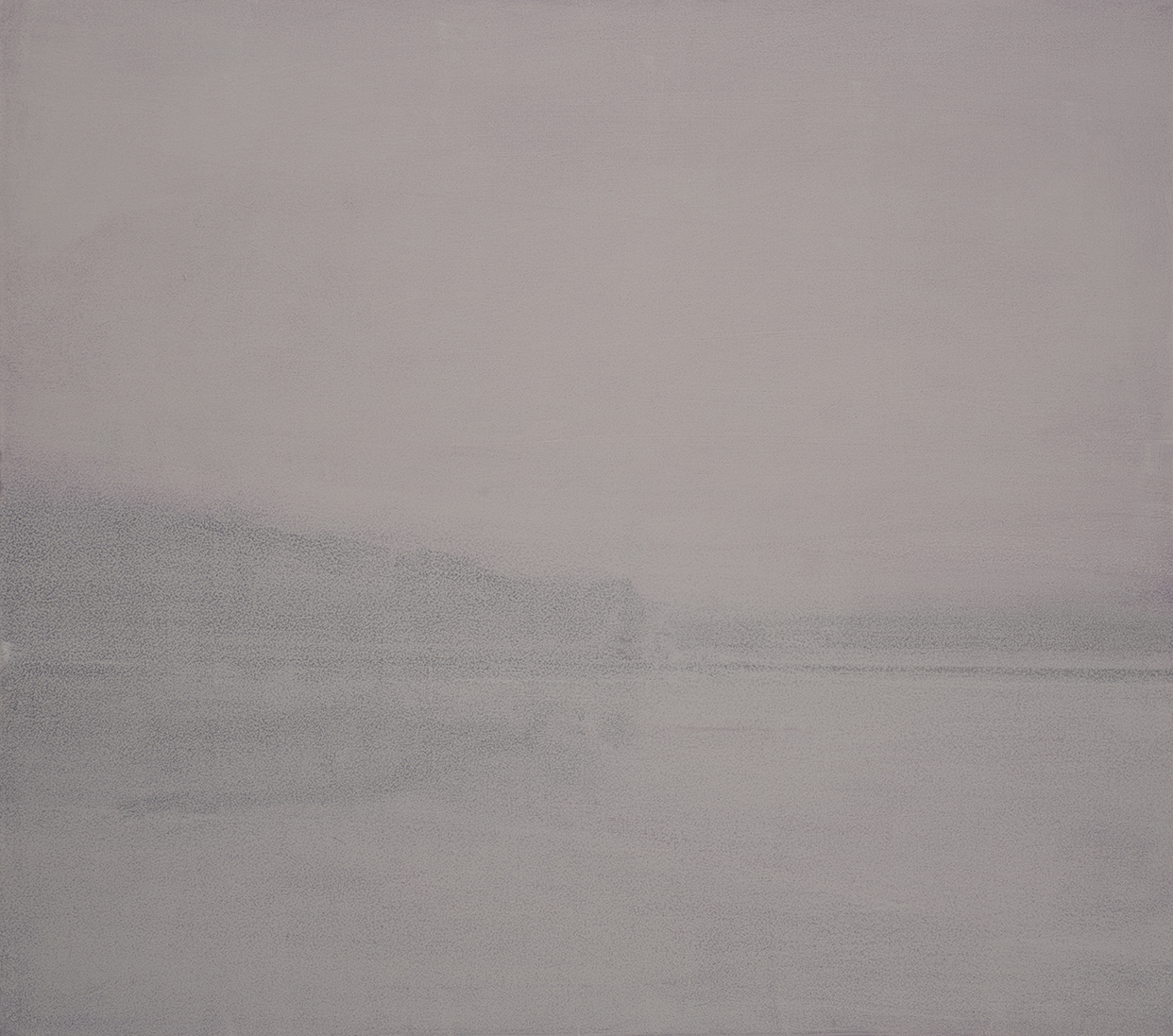 Landscape in Gray and White